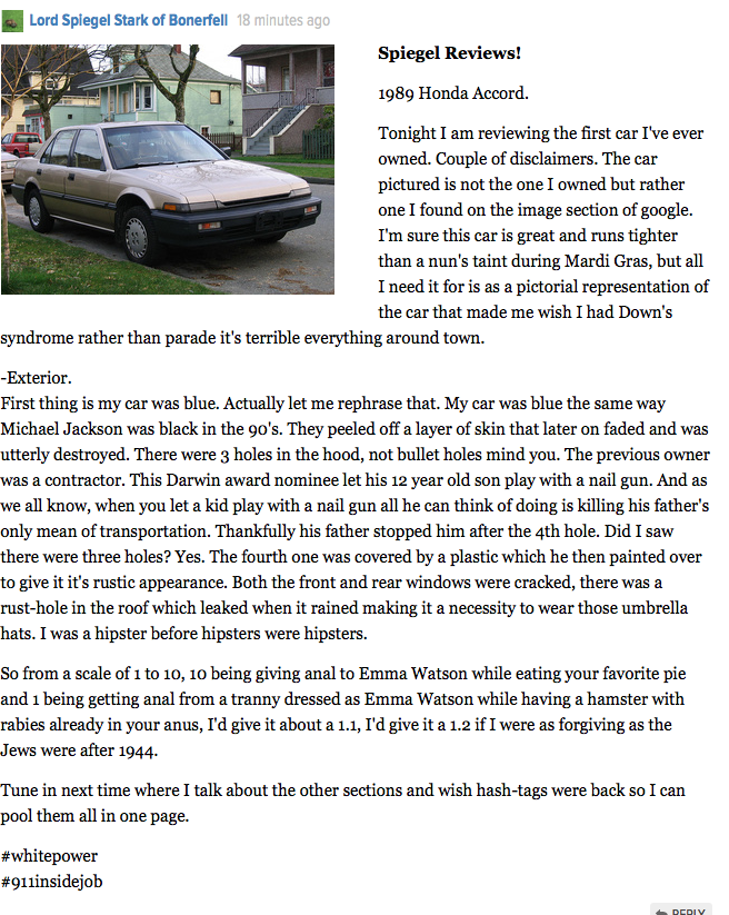 TBT Spiegel Review - Honda Accord