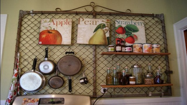 Upcycle an Old Fence Gate Into a Kitchen Pegboard