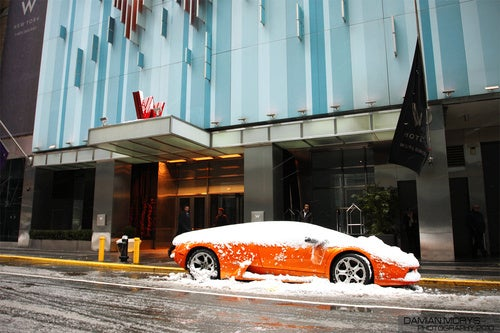 Gallery: The Snowed-On Times Square Murcielago