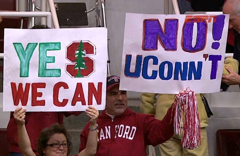 Stanford Fan Should've Read His Sign Aloud Before Bringing It To The Game