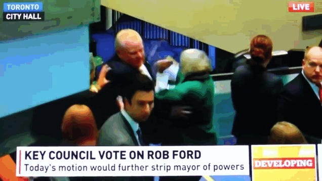 Runaway Train Rob Ford Just Knocked Over a City Councillor