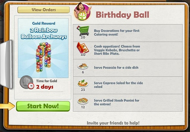 ChefVille Birthday Ball Catering Order: Everything You Need to Know