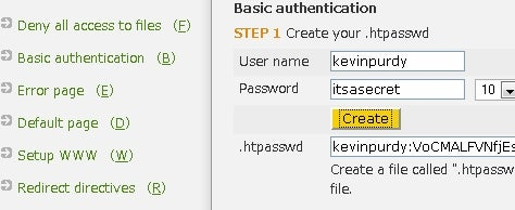 Password Your Web Server Pages with .htaccess Editor