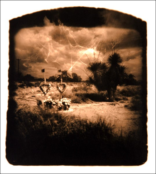Eerie photographs taken with a camera made from a human skull