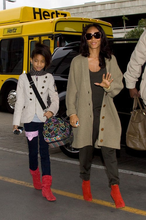 Willow & Jada Are Hot To Trot In Red Boots