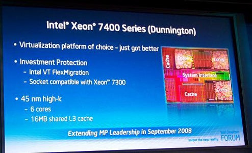 "Intel's Six-Core Xeon 7400 ""Dunnington"" Processor Shipping on September 15th"