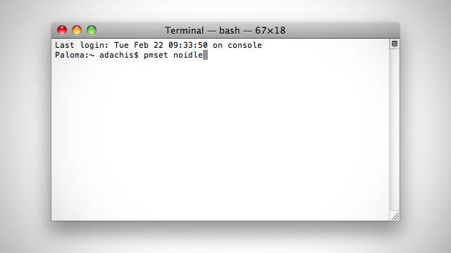 How to Force Your Mac to Stay Awake Indefinitely via the Command Line