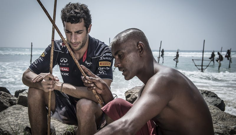 "Ricciardo fishing the ""Sri Lanka way"""