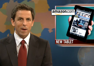 SNL's Seth Meyers Skewers Barely Born Kindle Fire On Its Clueless Parent Appeal