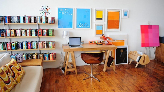 The Colorful, Collectible Lunchbox Workspace