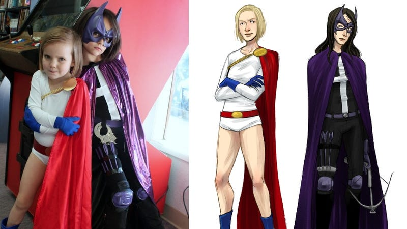 Artist Draws Superheroines as Young Girls Imagine Them (Fully Clothed)