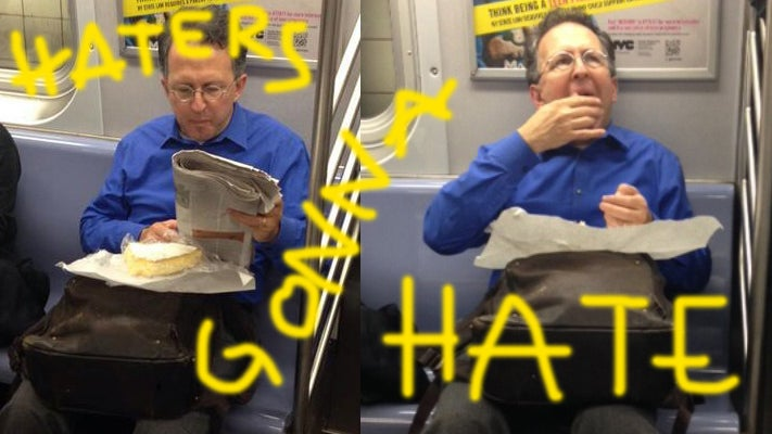 Guy Loves Cheese So Much He Eats a Wheel of Brie on the Subway