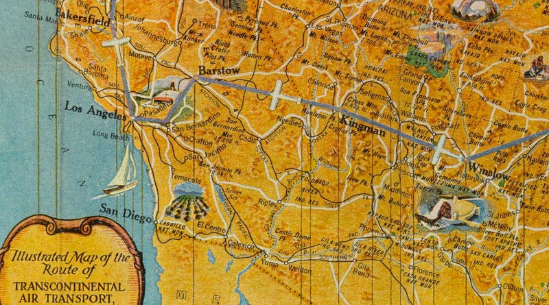 This Air Travel Map From 1929 Is Absolutely Stunning