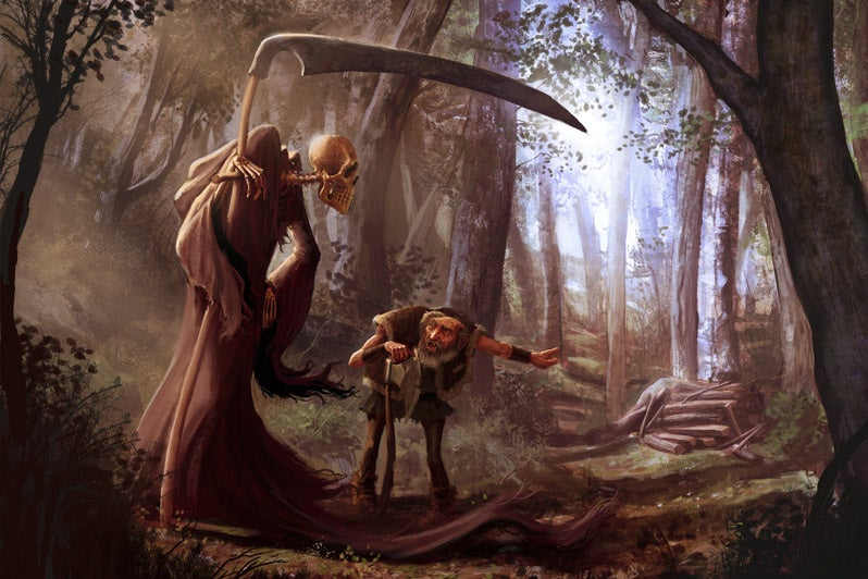 Concept Art Writing Prompt: Meeting the Grim Reaper on the Road