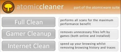 AtomicCleaner Cleans Up Your Temp Files And Gaming Mess
