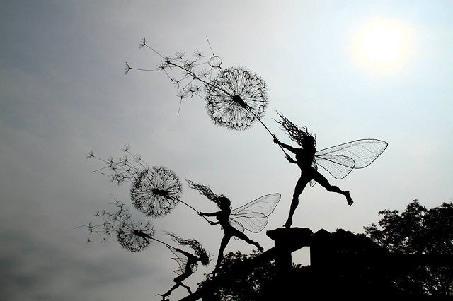 The Full Sized Wire Fairy Queen of Trentham Gardens