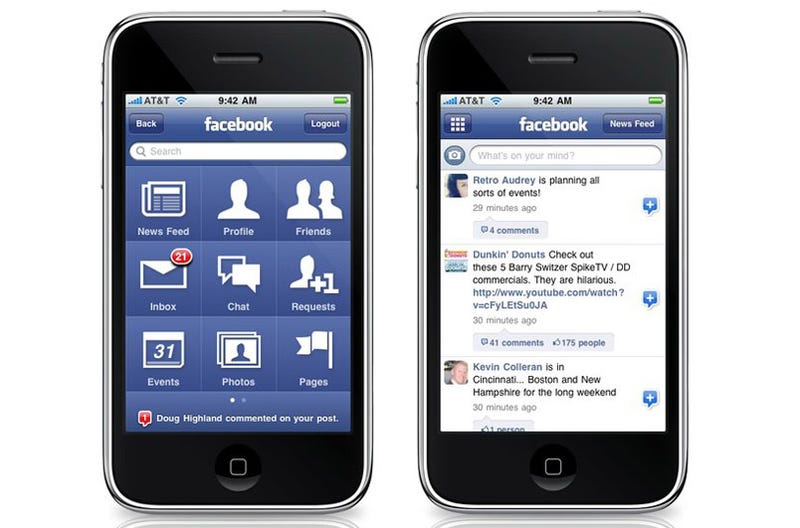 Facebook Might Be Built Into iPhone OS 4