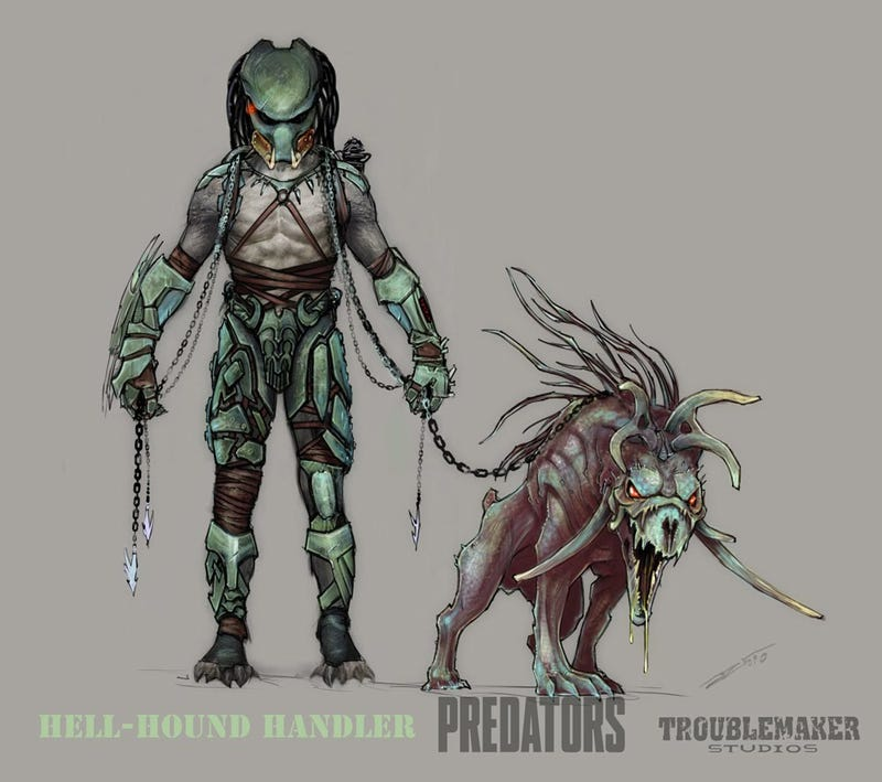 Predators concept art will cut you without missing a step