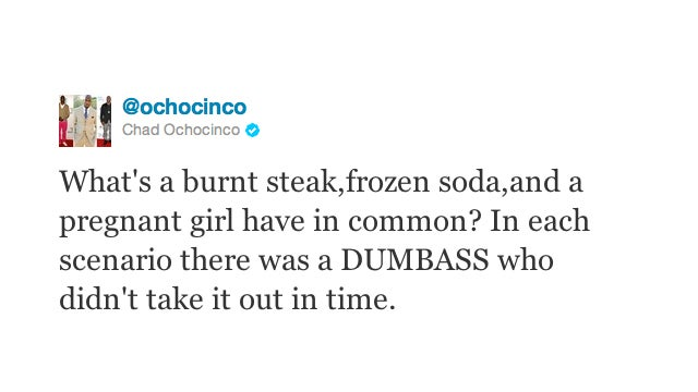 And Now, A Dumbass Moment With Chad Ochocinco