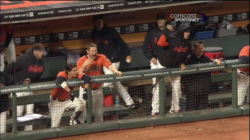 Aubrey Huff Almost Injured Himself Last Night Smacking Ryan Theriot's Ass