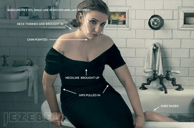 This Is What Lena Dunham Looked Like Before Vogue's Photoshop Job