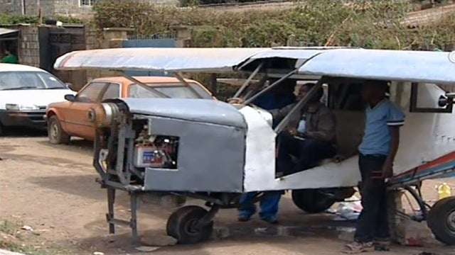 Meet the Kenyan man who built an airplane in his front yard