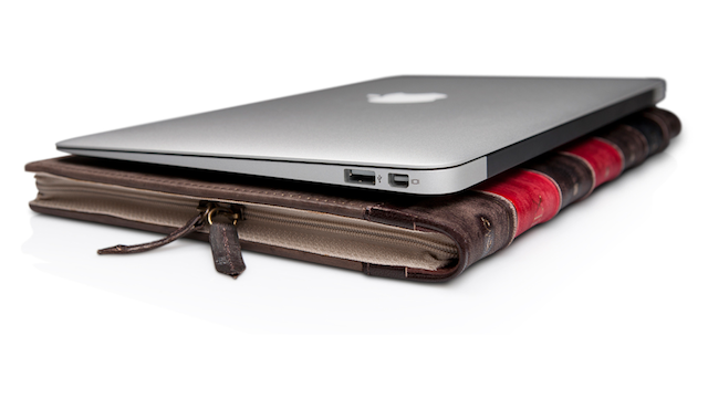 Hide Your MacBook Air Inside a Leather Bound Book
