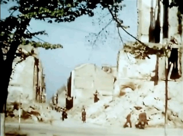 Newly Released Color Films Show The Utter Devastation Wrought By WW2