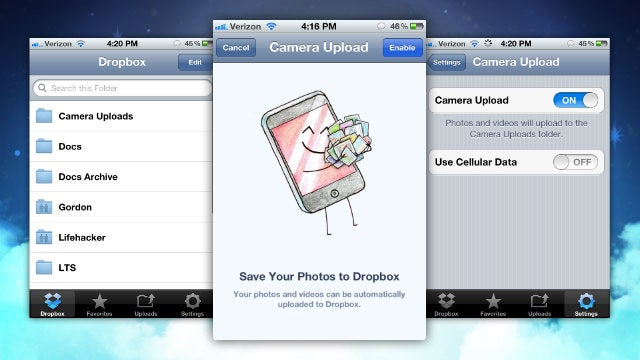 Dropbox Adds Automatic Camera Uploads to iOS, Gives Away 3GB of Free Space