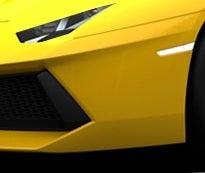 The Lamborghini Huracan's front end