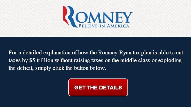 DNC Pokes Fun at Romney's Impossible Tax Plan with Perfect Parody Website