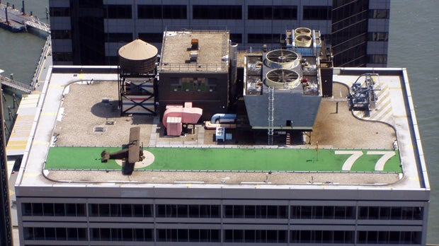 Manhattan's secret rooftop warplane