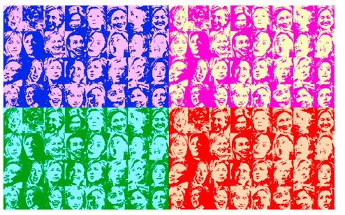 Warholization Of Drudge's Terrifying Hillary Montage