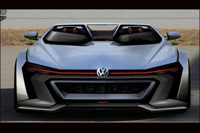 VW's Golf GTI Gran Turismo Vision Concept Is A Hot Hatch From 2050