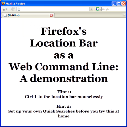 Five Quick Searches That Turn Firefox's Address Bar into a Network Command Line