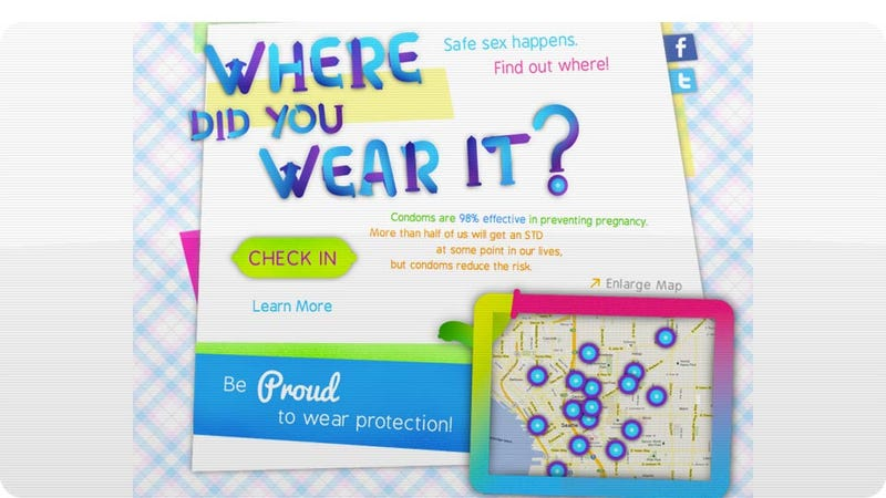 Would You Use a Condom-Based Foursquare to Check In When You Have (Safe) Sex?