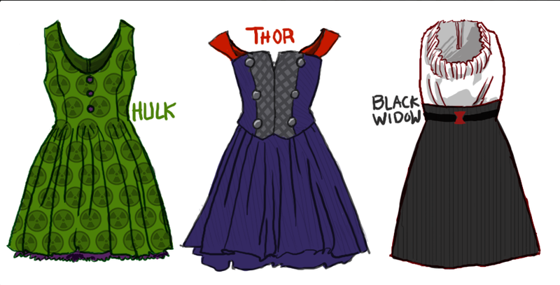Seriously cute dresses inspired by costumes from The Avengers