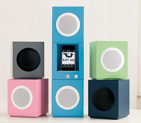 Stackable iPhone Speakers Are Your Personal Tower of Power