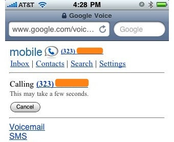 Generate Google Voice Speed Dial Bookmarks for Your iPhone
