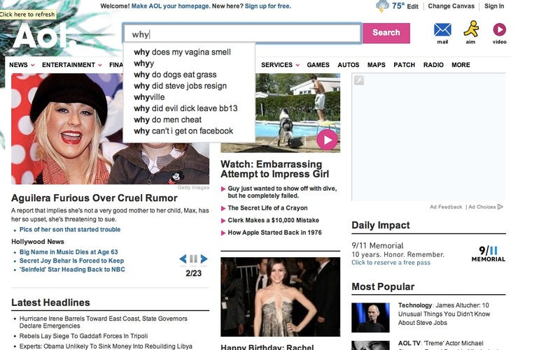 """The Crazy Stuff That Shows Up When You Type """"Why"""" on Aol"""