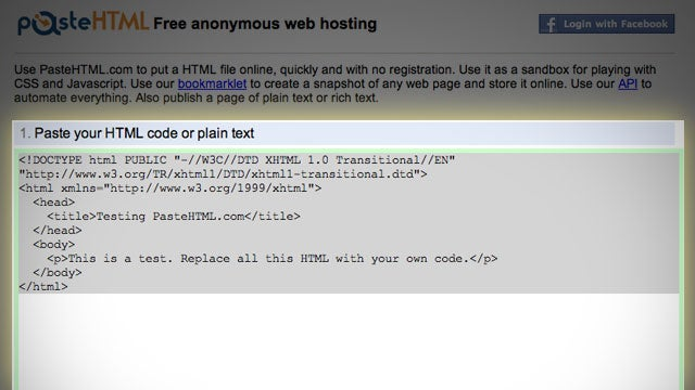 Paste HTML Is a Free Testing Ground for Your HTML, CSS, and JavaScript Code