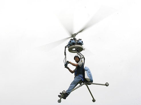 Japanese Make World's Smallest One-Man Helicopter (Can Fit Three Tom Cruises, Two Brian Lams)