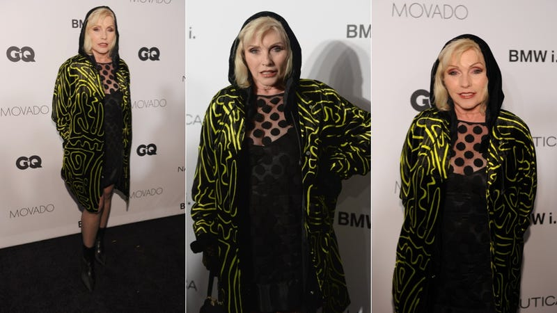 Debbie Harry Rocks the Many Textured Hooded Dreamcoat