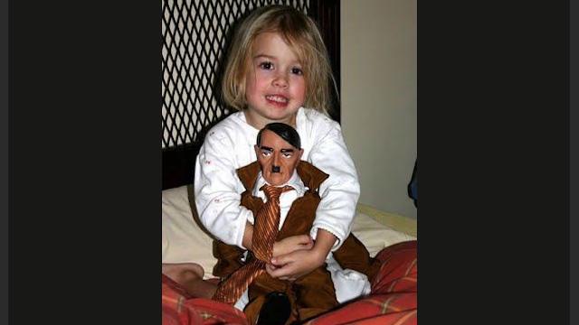 Frightening Girl Loves Her Hitler Doll