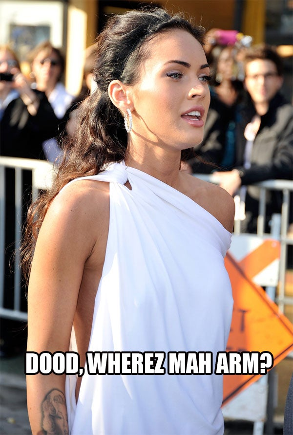 Megan Fox At Transformers 2 Premiere: LOL Style
