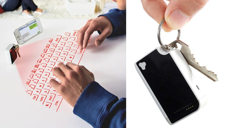 This Tiny Keychain Laser Keyboard Is Still a Waste of Space