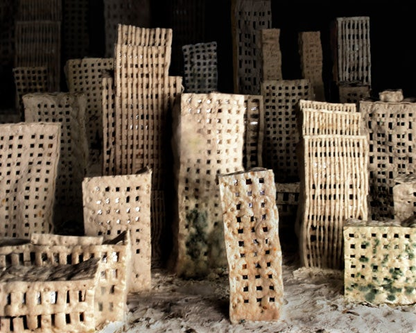 See a city made of bread decompose in a moldy apocalypse