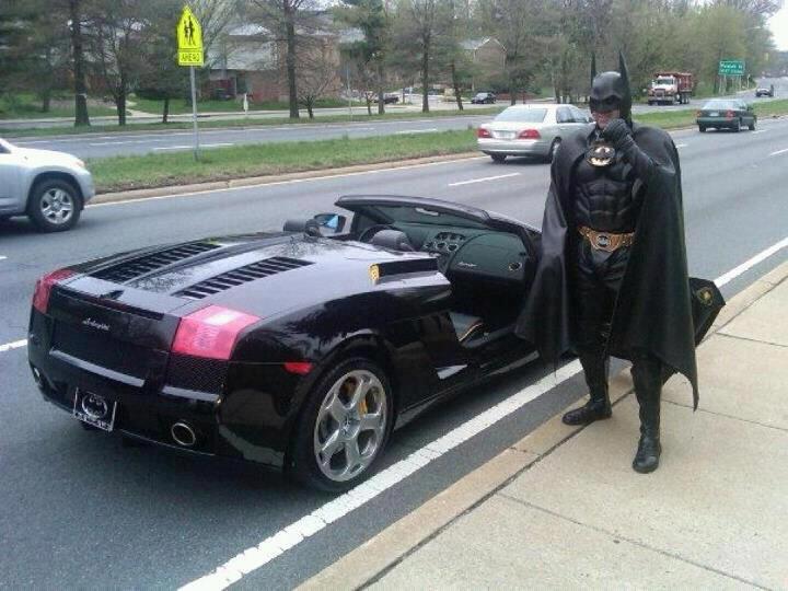 I'm Batman... Getting Pulled Over In A Lamborghini