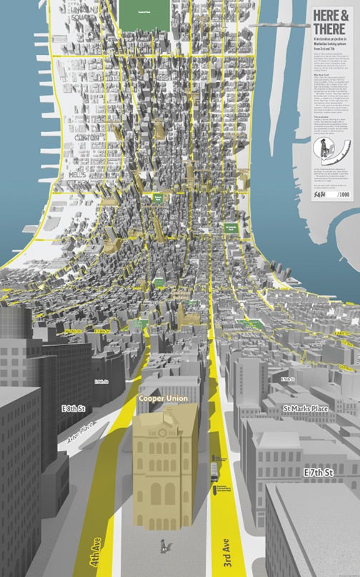 Manhattan Mapped Without a Horizon