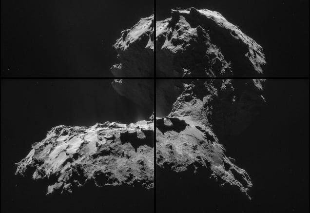 El cometa 67P, detallado en nuevas fotografías en alta resolución